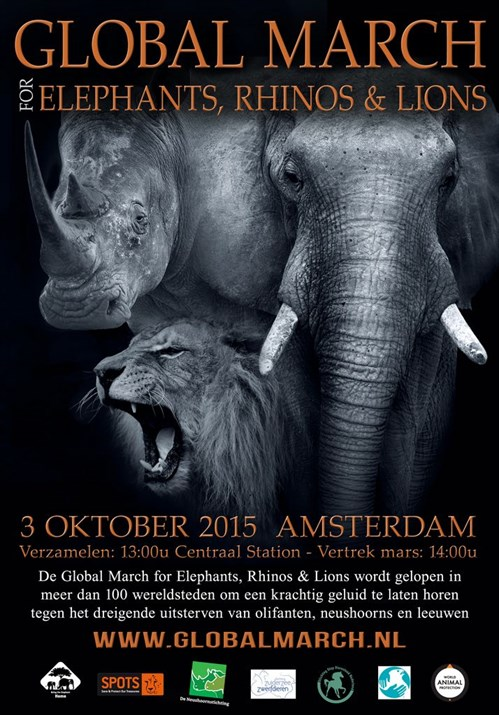 Poster Global March 3 oktober Amsterdam