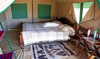Interieur Tent Bij Whistling Thorn Camp